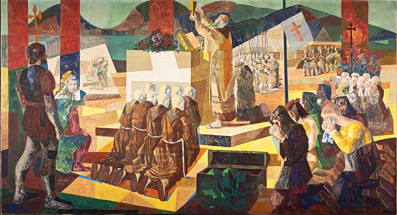 (2) A Primeira Missa no Brasil, 1948. Candido Portinari<br> Coleção MNBA/IBRAM/ Ministério da Cidadania