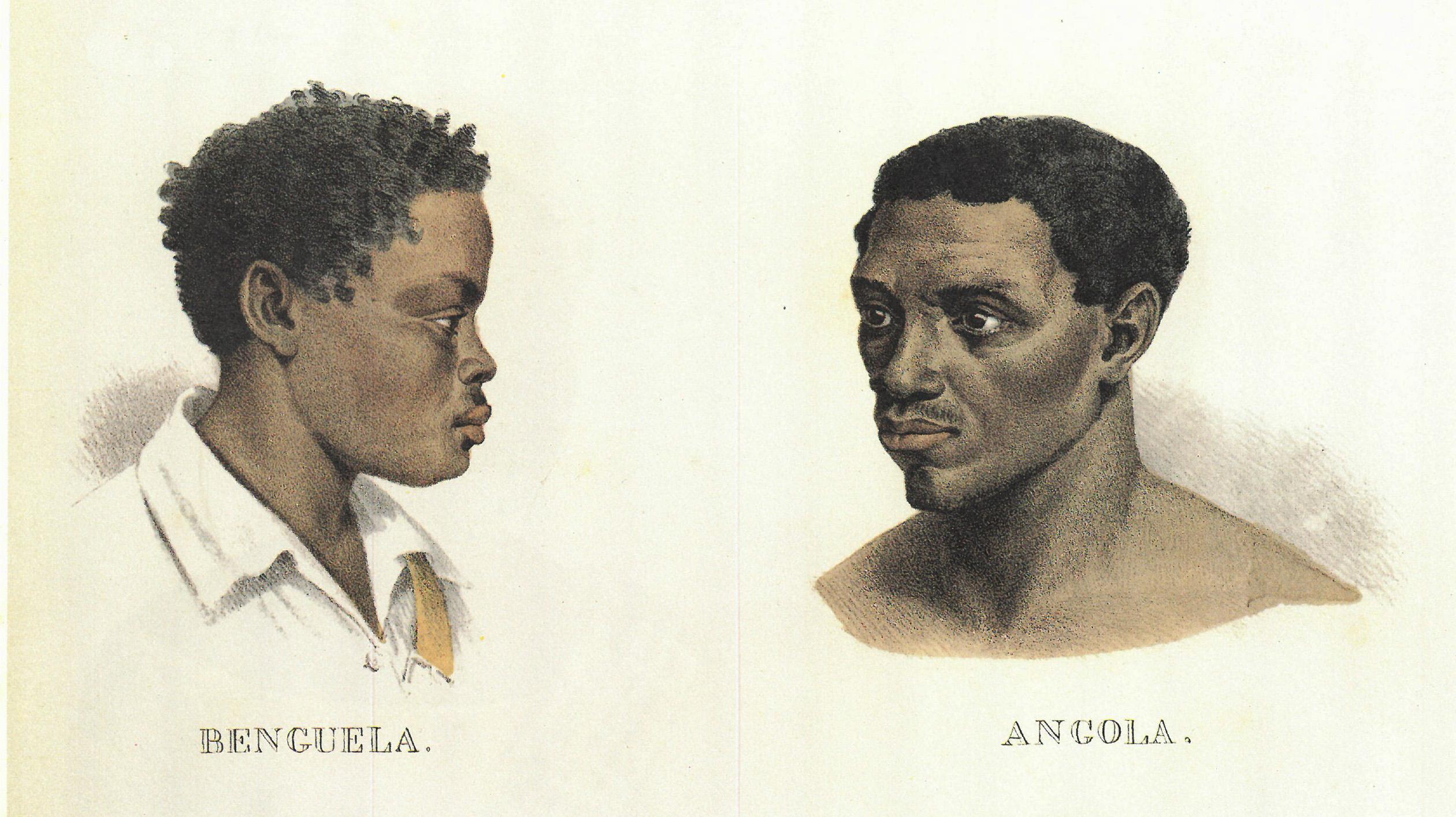 (3) Benguela – Angola. Johann Moritz Rugendas<br> Acervo da Fundação Biblioteca Nacional - Brasil