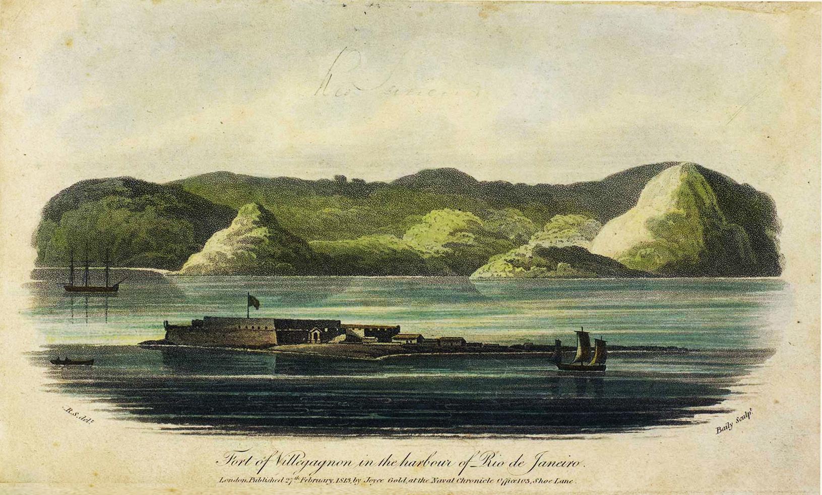 (3) Fort of Villegagnon in the harbour of Rio de Janeiro<br> Acervo da Fundação Biblioteca Nacional - Brasil