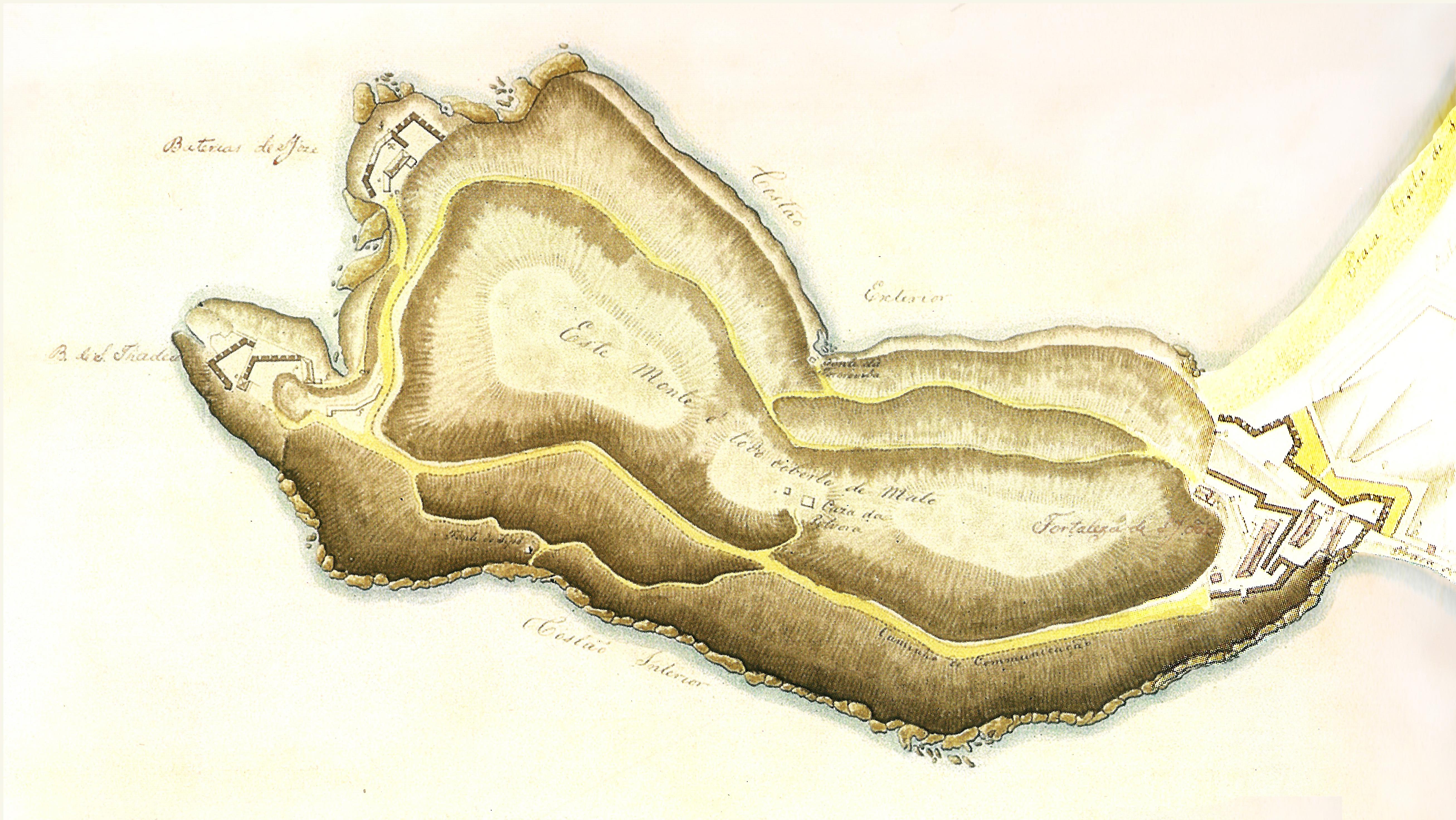 (2) Plano da Fortaleza de São João e das Baterias... Acervo do Arquivo Histórico do Exército