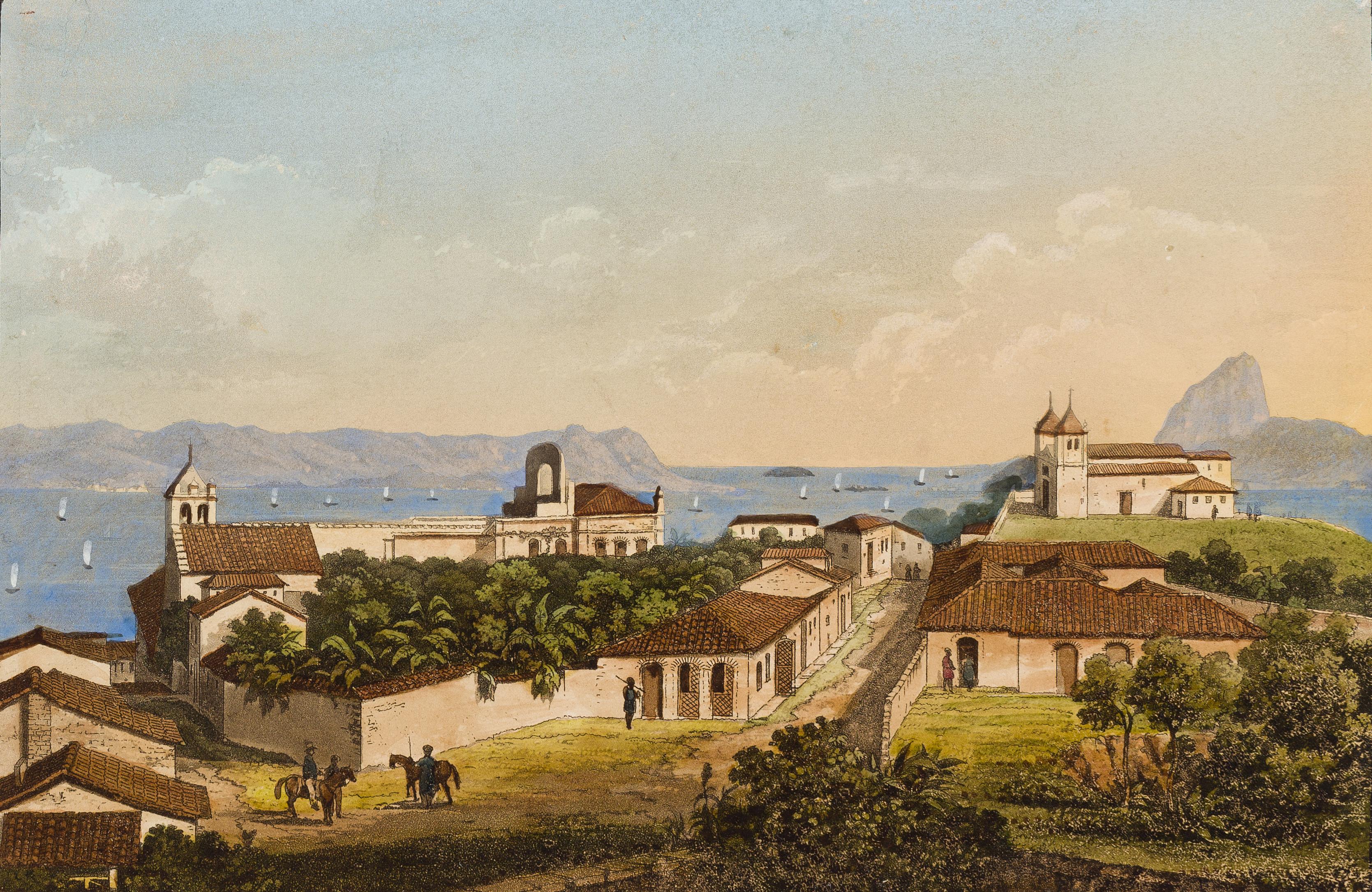 (1)Igreja de St. Sebastiaõ. Johann Jacob Steinmann. Acervo da Pinacoteca do Estado de São Paulo, Brasil. Coleção Brasiliana / Fundação Estudar. Doação da Fundação Estudar, 2007