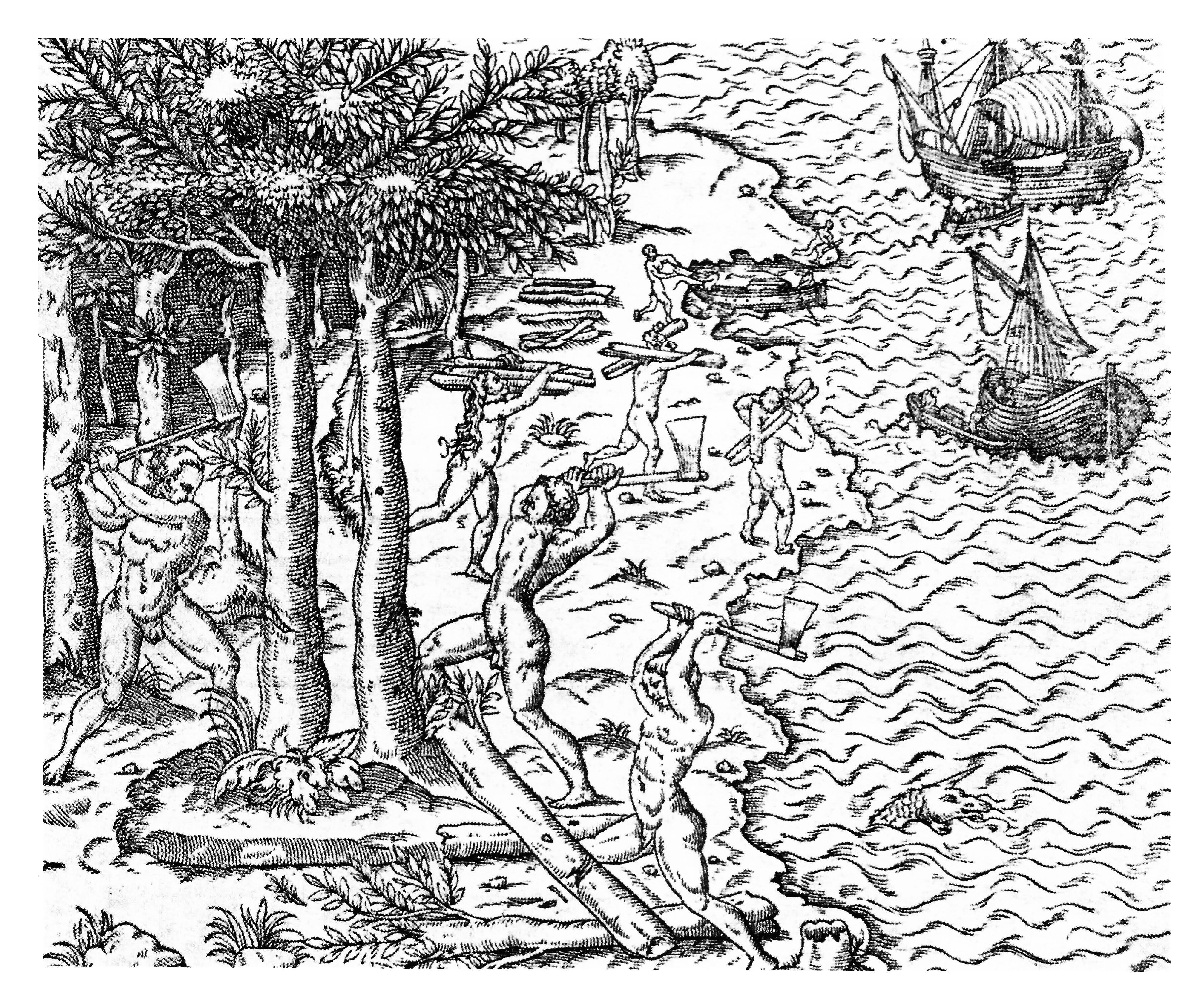 La Cosmographie universelle - d´André Thevet Hans Staden cosmographe du Roy - Ilustração - 1575 - Acervo: Fundação Biblioteca Nacional