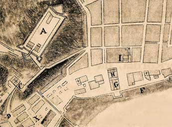 1713 – Muralha e primeira planta
