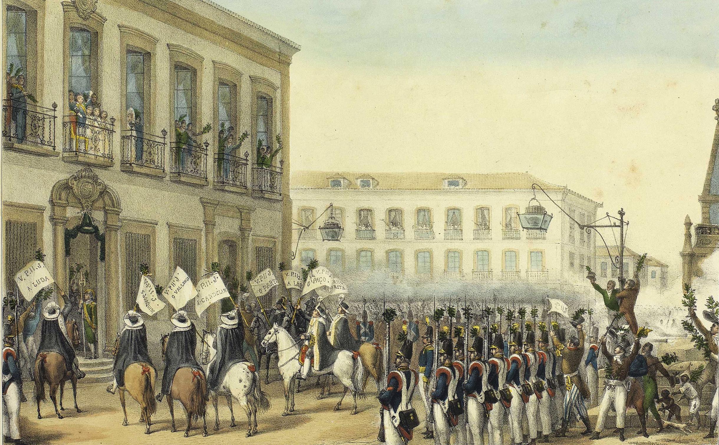 (1) Acclamation de D. Pedro II: à Rio de Janeiro le 7 avril, 1831.<br> Jean-Baptiste Debret. Acervo da Fundação Biblioteca Nacional – Brasil